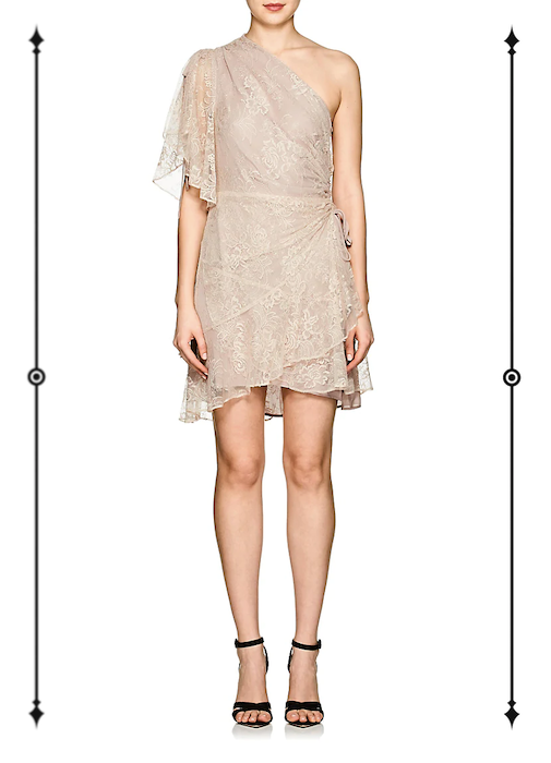 A.L.C. Floral Lace One-Sleeve Minidress  ($94, on sale from $895)