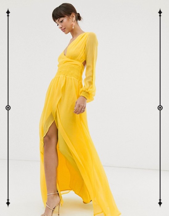 ASOS Design Maxi Dress With Smocking And Balloon Sleeve  ($72)