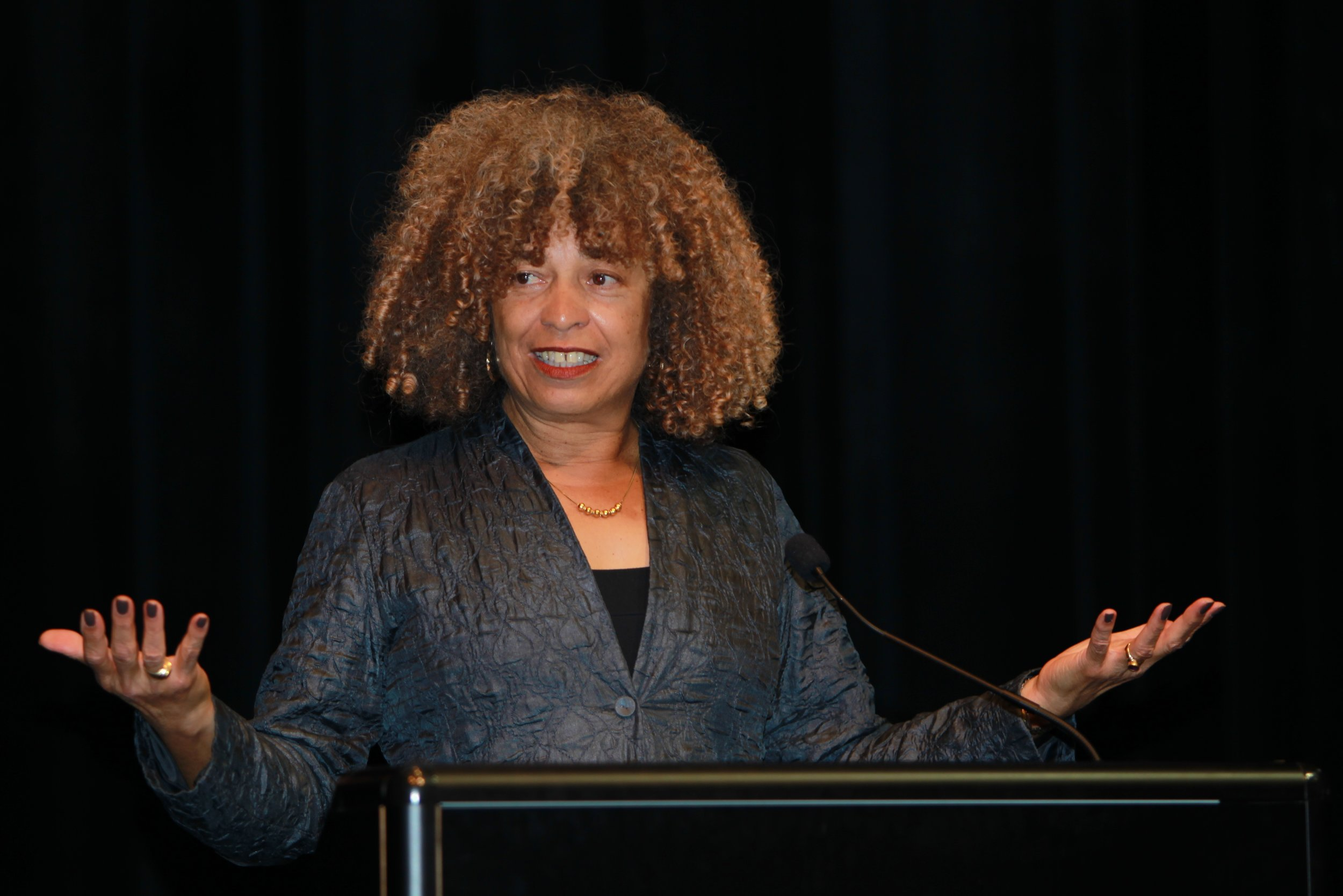 NFL players had been encouraged by legendary Black activists, athletes and artists who have long supported the Palestinian emancipatory struggle — including Angela Davis — to pull out of the junket. Photo credit: Emerson College