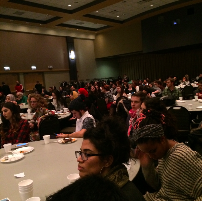 More than 200 people were at Rasmea Odeh's fundraiser hosted by Students for Justice in Palestine Chicago Network.