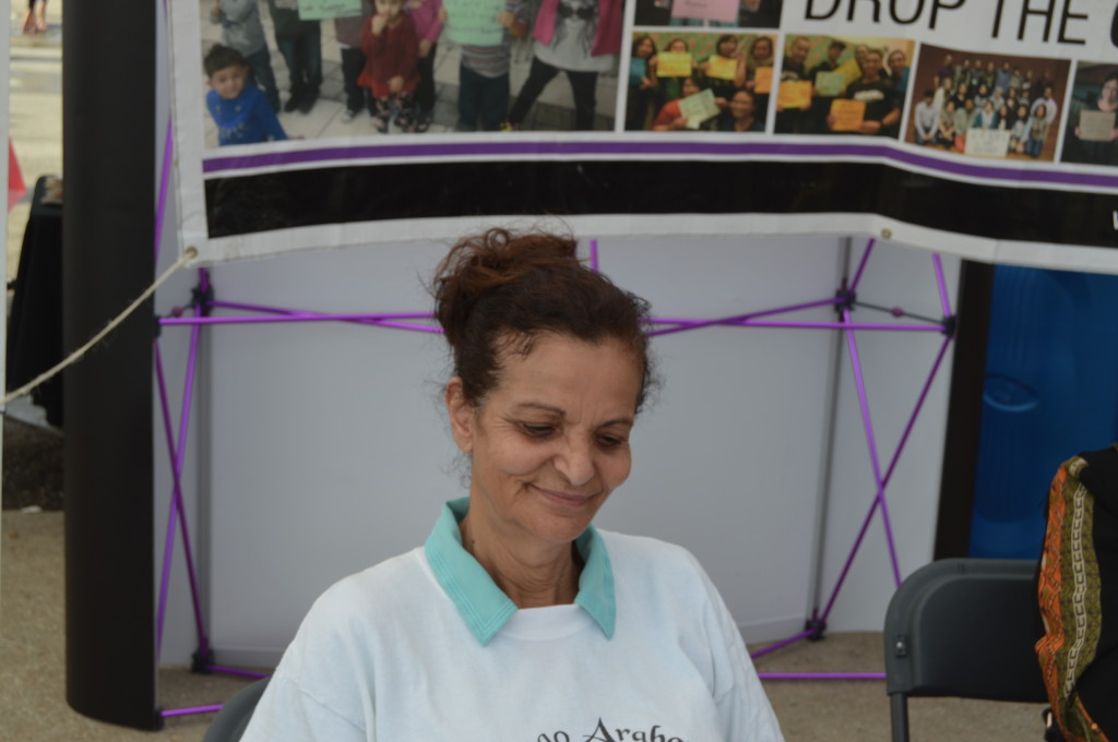 Rasmea Odeh, a Palestinian-American community leader in Chicago, at the Watani Chicago Festival Aug. 24, 2014. | Nader Ihmoud