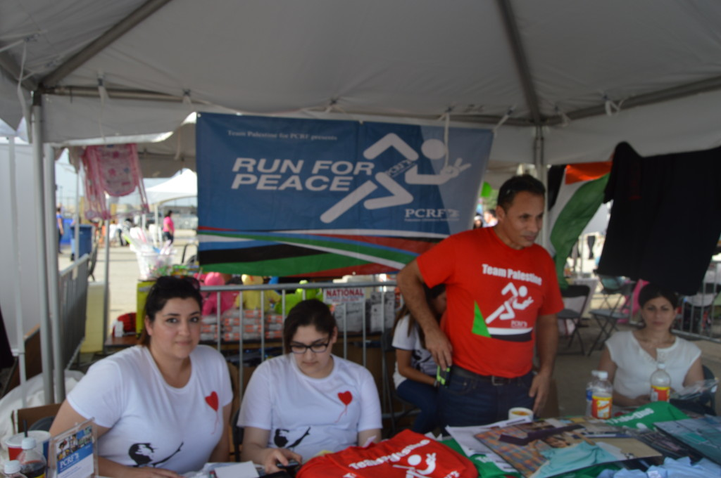 Run for Peace was at the Watani Chicago Fest at Toyota Park on Aug. 24 to sign people up for the 3.1 mile run. The goal of the run is to raise money for the Palestinian Children Relief Fund. | Nader Ihmoud