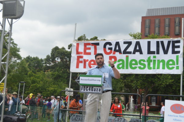 Aug. 2, 2014 | Osama Abuirshaid, National Coordinator at American Muslims for Palestine also spoke to the thousands of supporters.