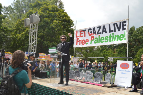 Aug. 2, 2014| Cornel West passionately gave his support to Gaza.