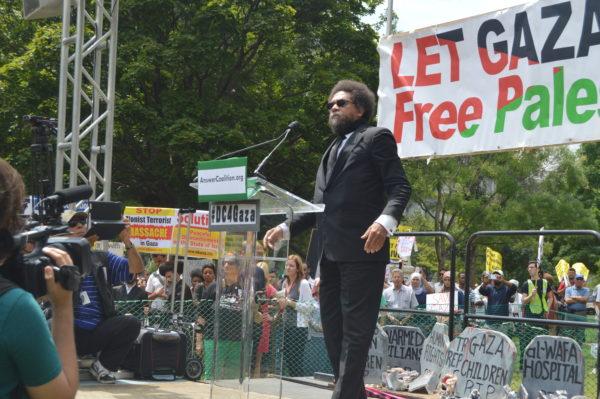 Aug. 2, 2014| Cornel West passionately addresses the crowd.