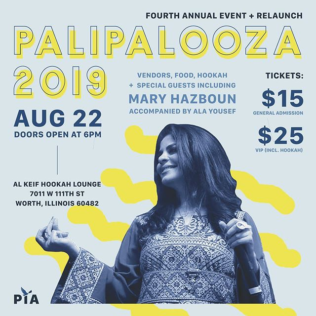 Mary Hazboun, a Palestinian folk singer, writer, and artist who was born and raised in the city of Bethlehem in occupied Palestine, will be performing at this year's Palipalooza. She is now based in Chicago.  Palestine in America hosts Palipalooza annually to fundraise for our quarterly magazine. The funds we raise help us pay writers, editors, photographers and designers as well as host cultural events that highlight people like Mary Hazboun.  Stay tuned for the rest of the line up #Palipalooza #PalestineinAmerica #PalestinianAmerican #SpokenWord #Poetry #Poet #Artist #PalestinianArtists #Art #PiA #Palipalooza2019  Link in bio: https://www.palestineinamerica.com/palipalooza