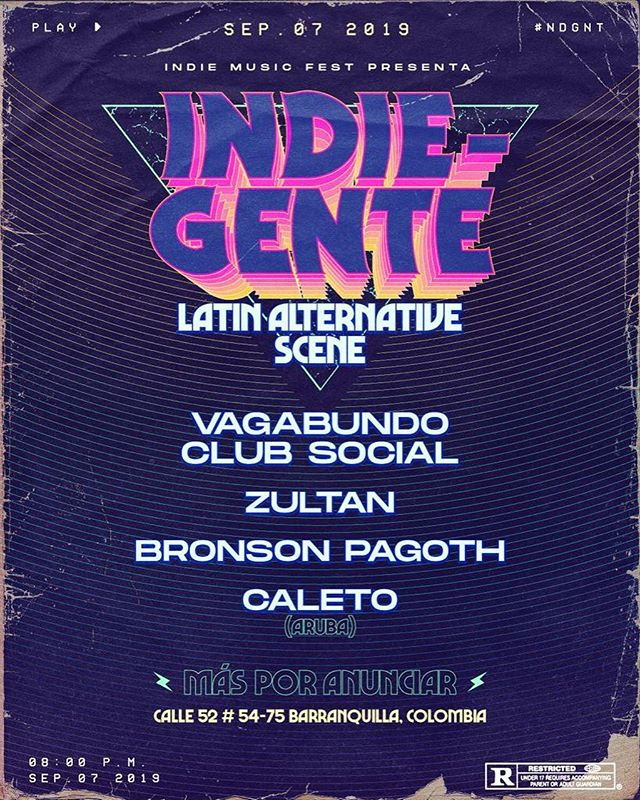 We are grateful to be part of this festival , big thanks for giving a chance to the new sounds of the island of aruba, see you soon Colombia 🇨🇴 ! ⚠️LINE-UP⚠️ #NDGNT  @vagabundoclubsocial  @zultanmusica  @bronsonpagoth  @c.a.l.e.t.o [MÁS POR ANUNCIAR] 🚀    Barranquilla/Colombia💥 • • • #barranquilla #indiegente #indiemusicfest #indie #music #festivaldemusica #disco #retro #vintage #love #art #party#aruba#dutchcaribbean#caleto#worldbeatrecords#discotacultura
