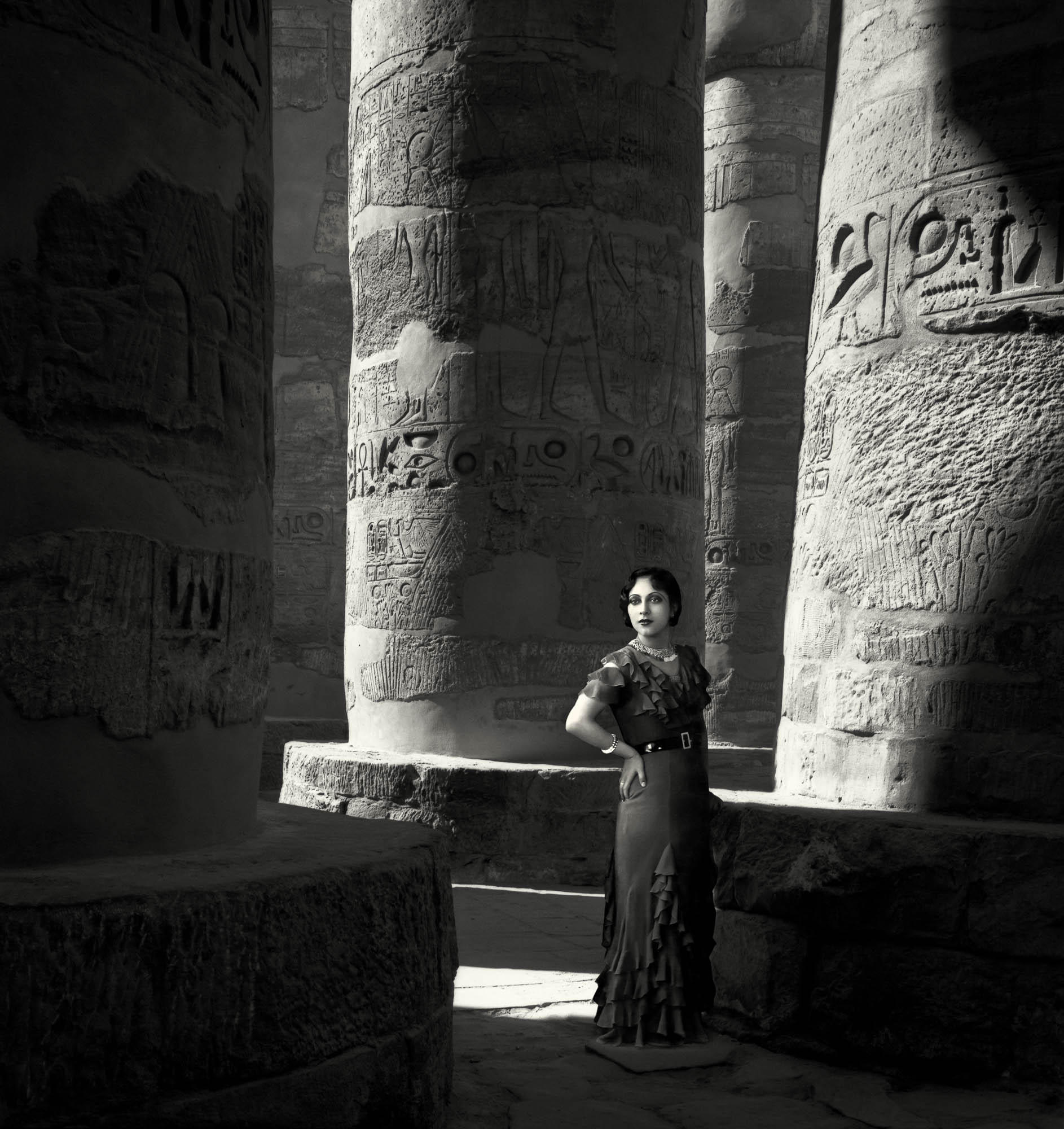 Barry Iverson,  Hypostyle Hall, Karnak,  1999 1930s Badr