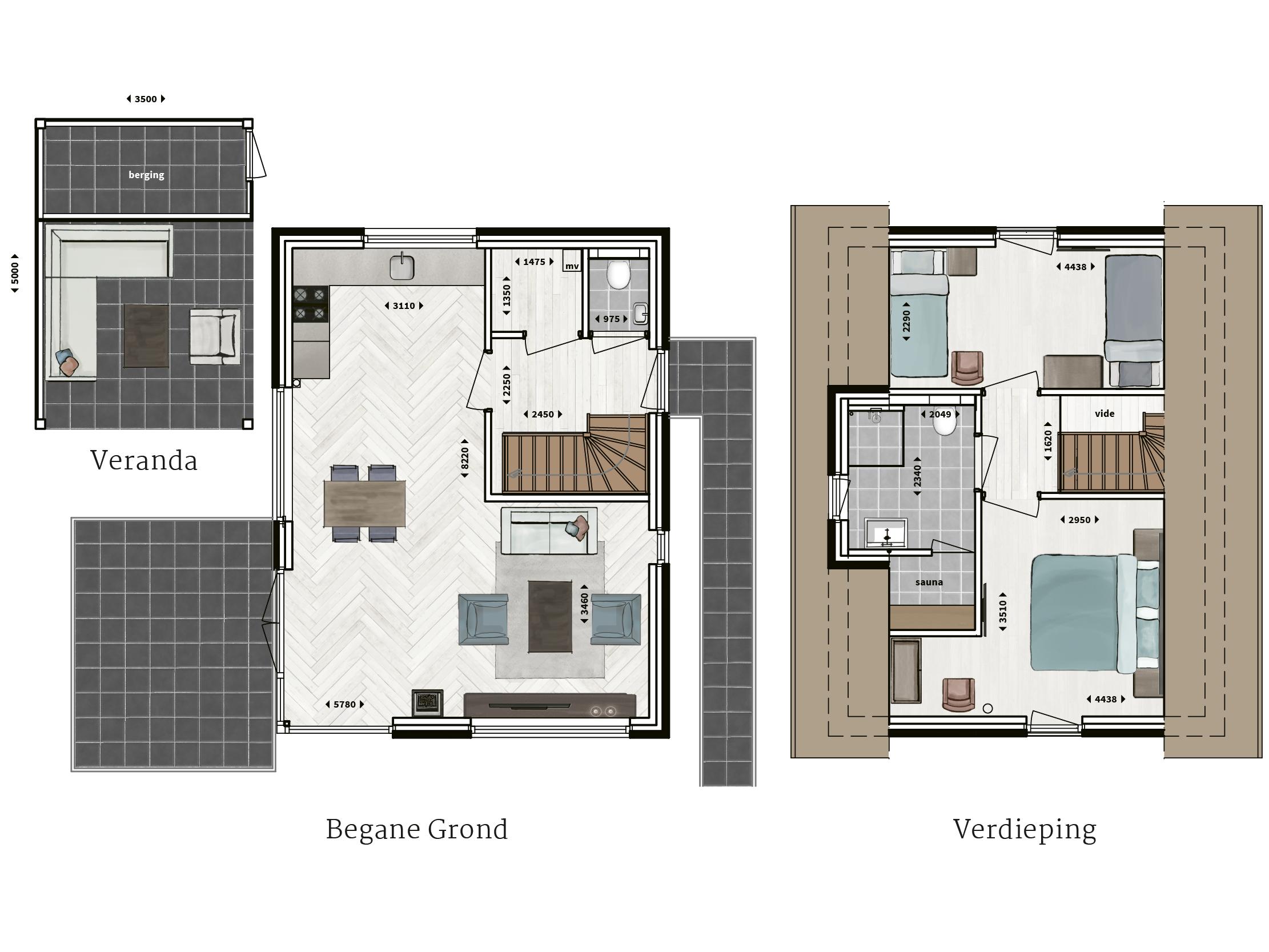 Kenmerken - - Rietgedekt - Gevel van metselwerk- Twee ruime slaapkamers- Badkamer met inloopdouche en sunshower- Sauna- Compleet ingerichte keuken- Houtkachel- Glazen hoekpui- Veranda met buitenhaard- Buitenberging