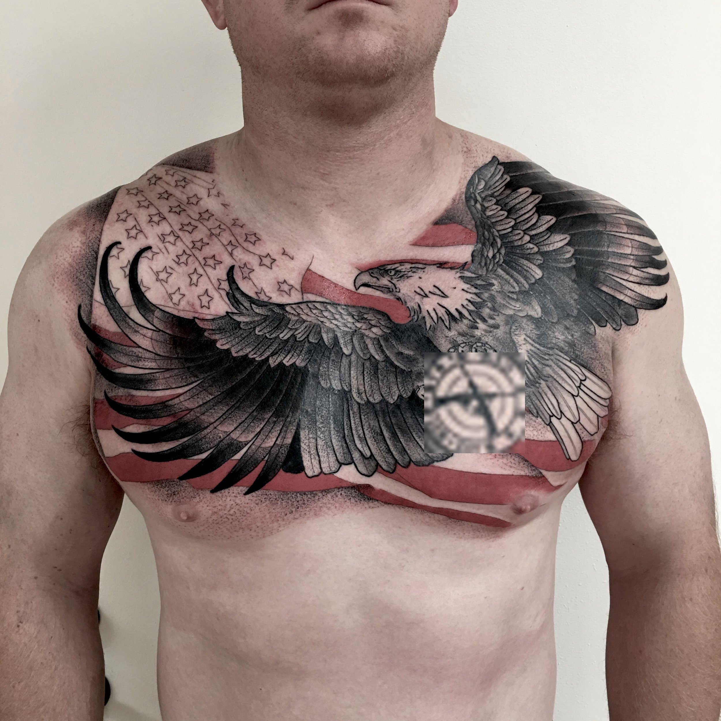 tattoo by brian foster EST riverside eagle