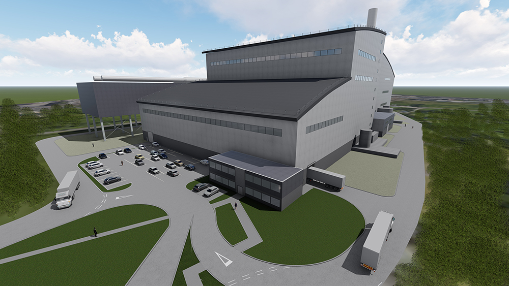 Architect's impression of the new Energy Recovery Centre