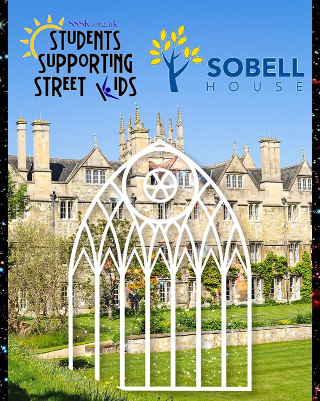 CHARITIES ANNOUNCEMENT 💫  We are excited to be supporting Sobell House and Students Supporting Street Kids (SSSK) through our ticket sales this year!  Last year, Sobell House provided compassionate care and support to over 3,000 people throughout Oxfordshire. Sobell House provide end-of-life care for people on their ward, in their day centre, in the local community, and in Oxford's hospitals. Find out more about your local hospice: https://www.sobellhouse.org  SSSK is a student-led charity seeking to improve the situation of street-connected children around the world and to help them realise their full potential. Student branches at Oxford, Cambridge, Edinburgh and UCL help to raise awareness and money, and every penny raised by SSSK goes directly to their NGO partners around the world. Find out more at http://www.sssk.org.uk  Image Description: A picture of Fellows' Garden with the logos of both charities in the sky. The MWB chapel door logo is in the middle of the image.  #MWB19 #charity #charityevent #whitetie