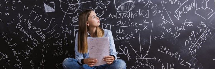 high school student being tutored for exams