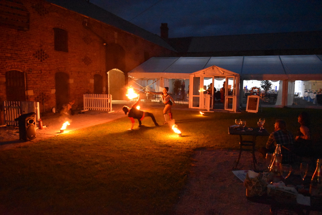 Bring The Fire Project performing their incredible Fire Dancing in our Courtyard.