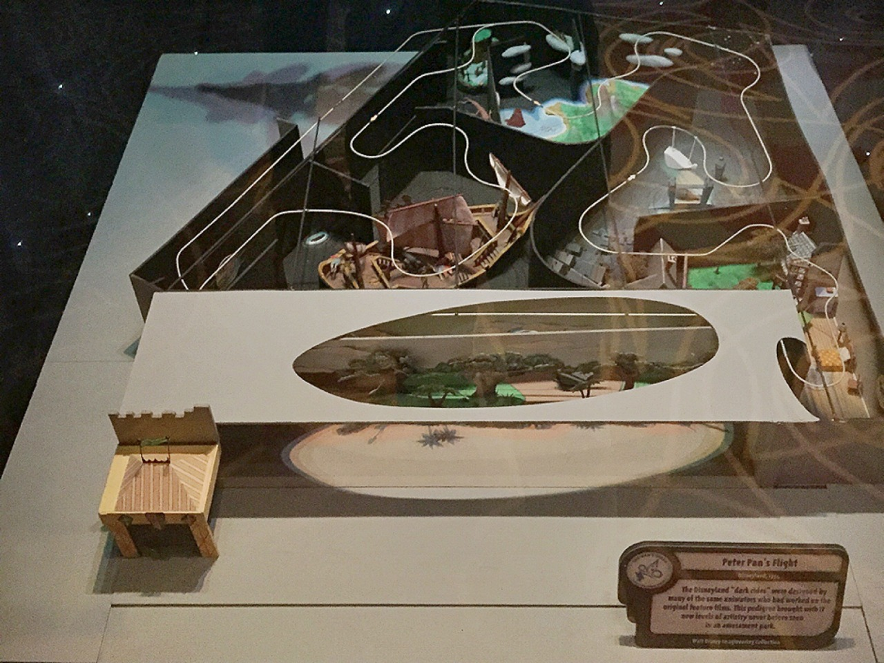 Scale 3D diorama used by Disney designers to create Peter Pan's Flight   Seen at Disney's Hollywood Studios