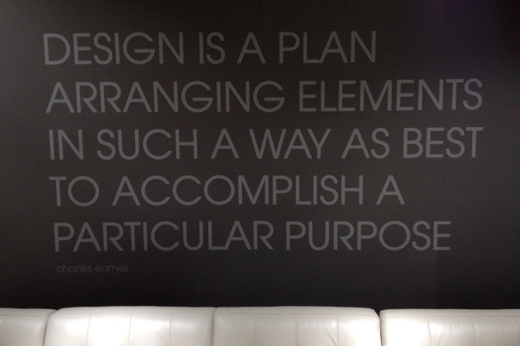 A quote from legendary designer and  recent documentary  subject  Charles Eames , spotted recently at Macy's