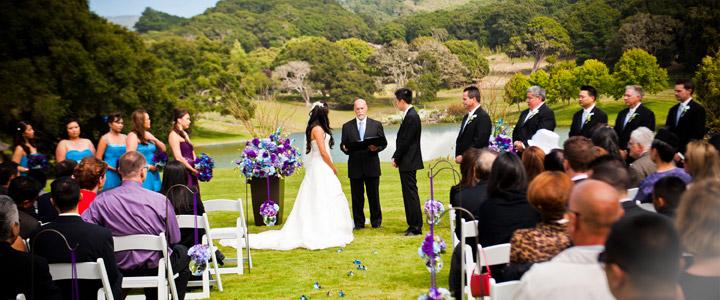 Wedding Ceremony at Quail Lodge, Carmel Valley