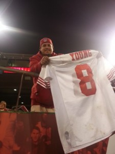 Steve Young jersey with turf stains