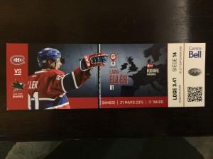 Hockey Ticket Montreal