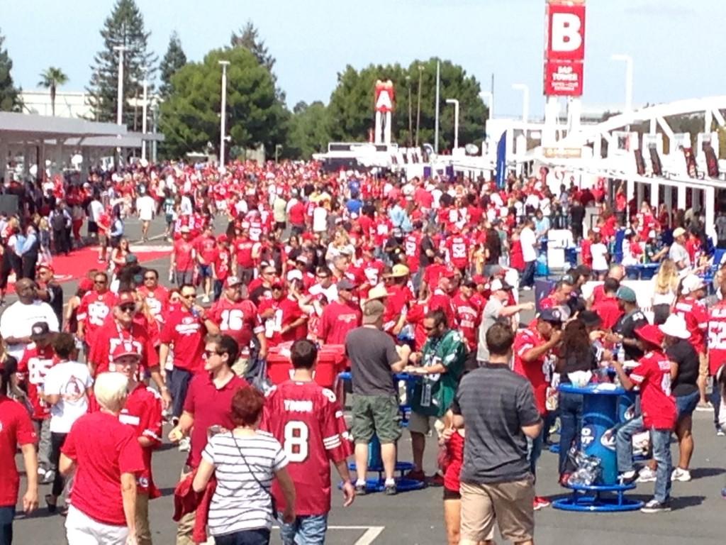Some pre-game festivities at Levi's Stadium