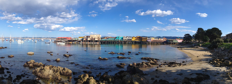 A view of Old Fisherman's Wharf in Monterey