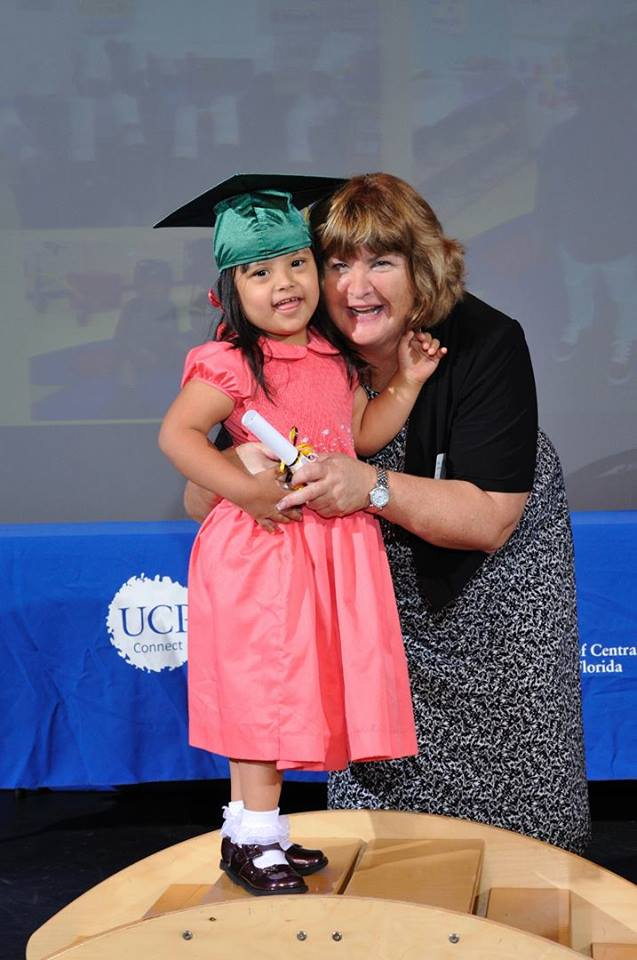 Dr.Ilene Wilkins celebrating the graduation of our Pre-K students