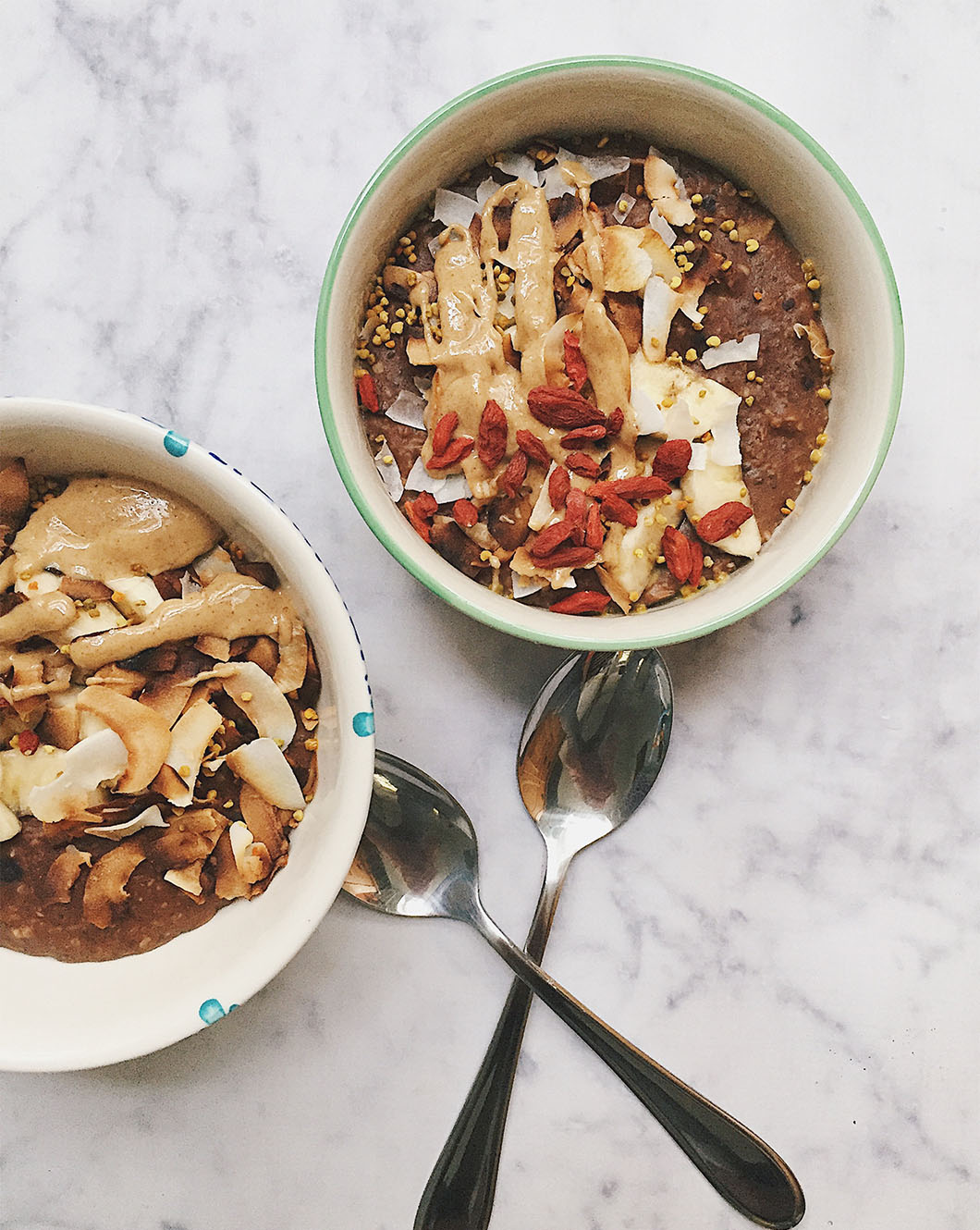 chocolate coconut protein oats  -