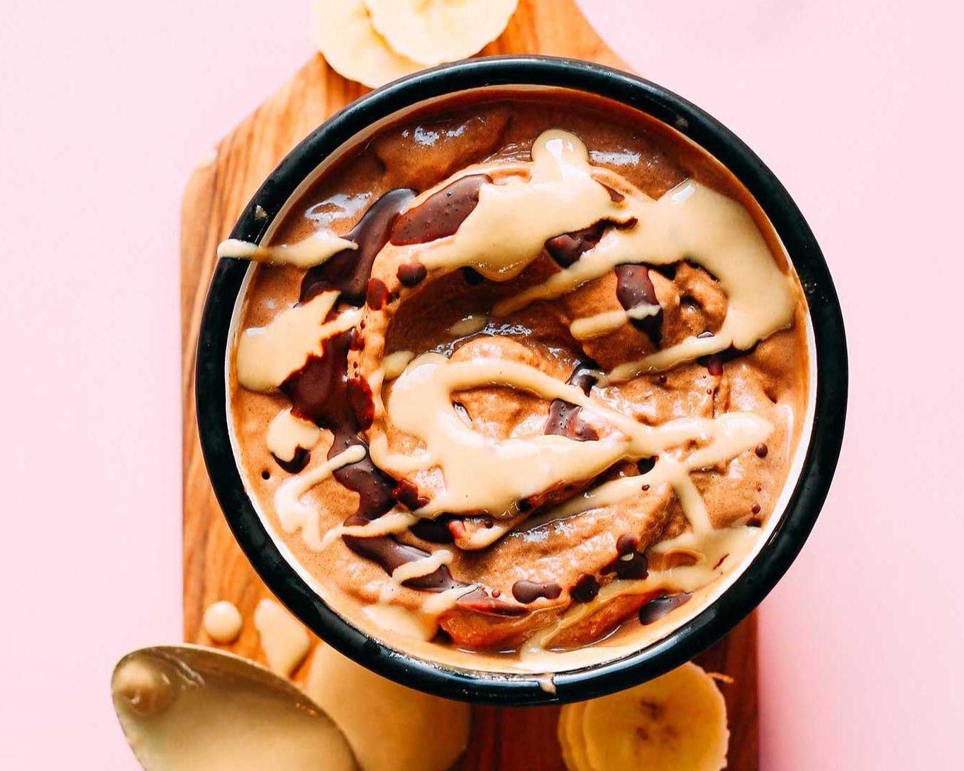 recipe share: chocolate banana soft serve -
