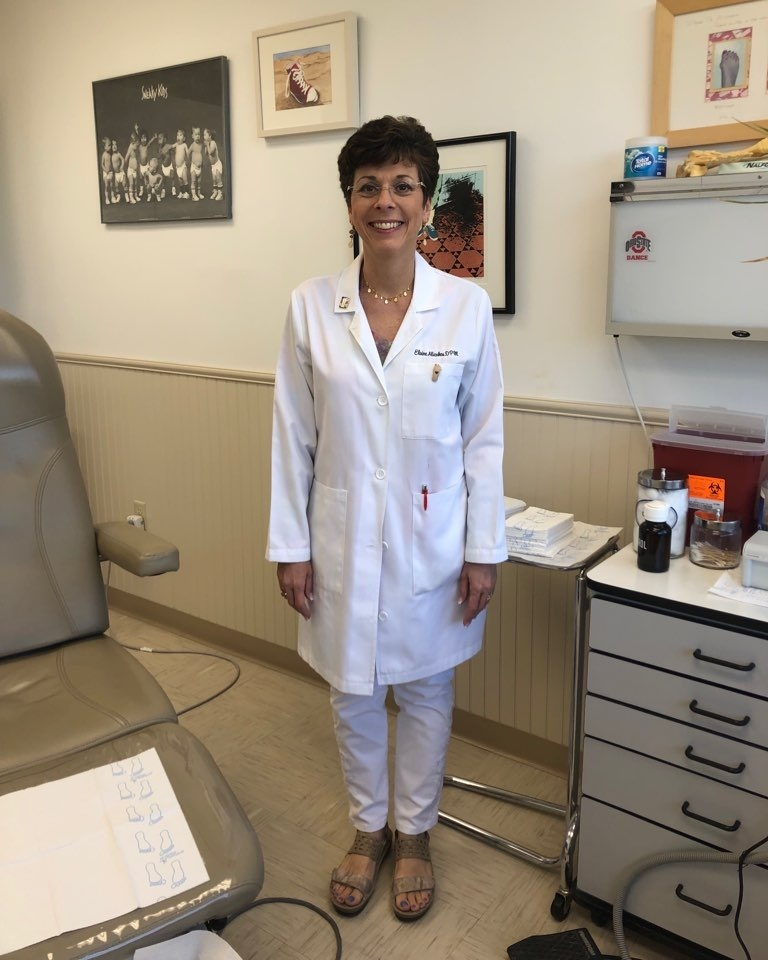 Elaine Alicakos, DPM, FACFAS - Dr. Alicakos is Board certified by the American board of podiatric medicine. She specializes in all facets of podiatry including pediatrics, heel pain, bunions, diabetic foot care, hammertoes, neuromas, ankle sprains/sports injuries, and geriatrics.