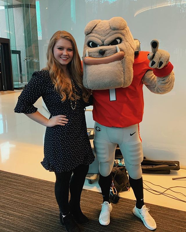 Loved jamming out with Hairy Dawg tonight! . . Thanks so much @terrycollege for inviting me to sing at their Terry Connect event at @cocacola HQ! ❤️🖤❤️#godawgs