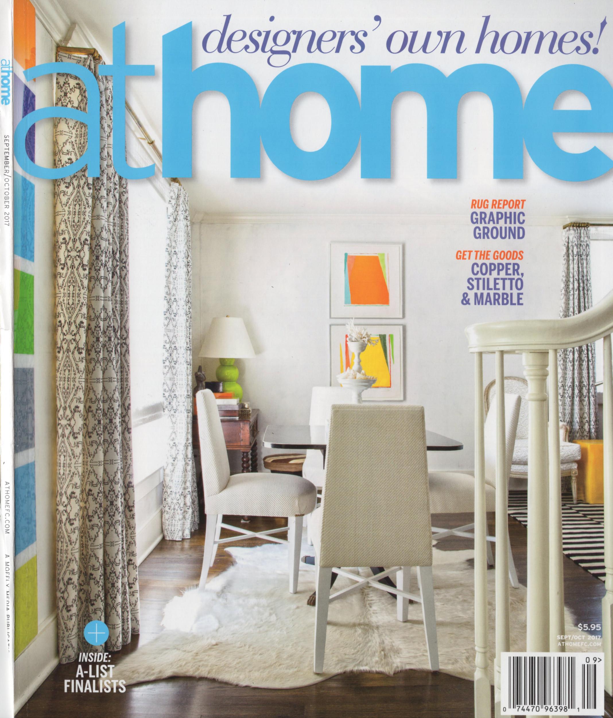Caroline Kopp Interior Design AtHome Magazine Cover Rowayton CT Connecticut Interior Designers.JPG
