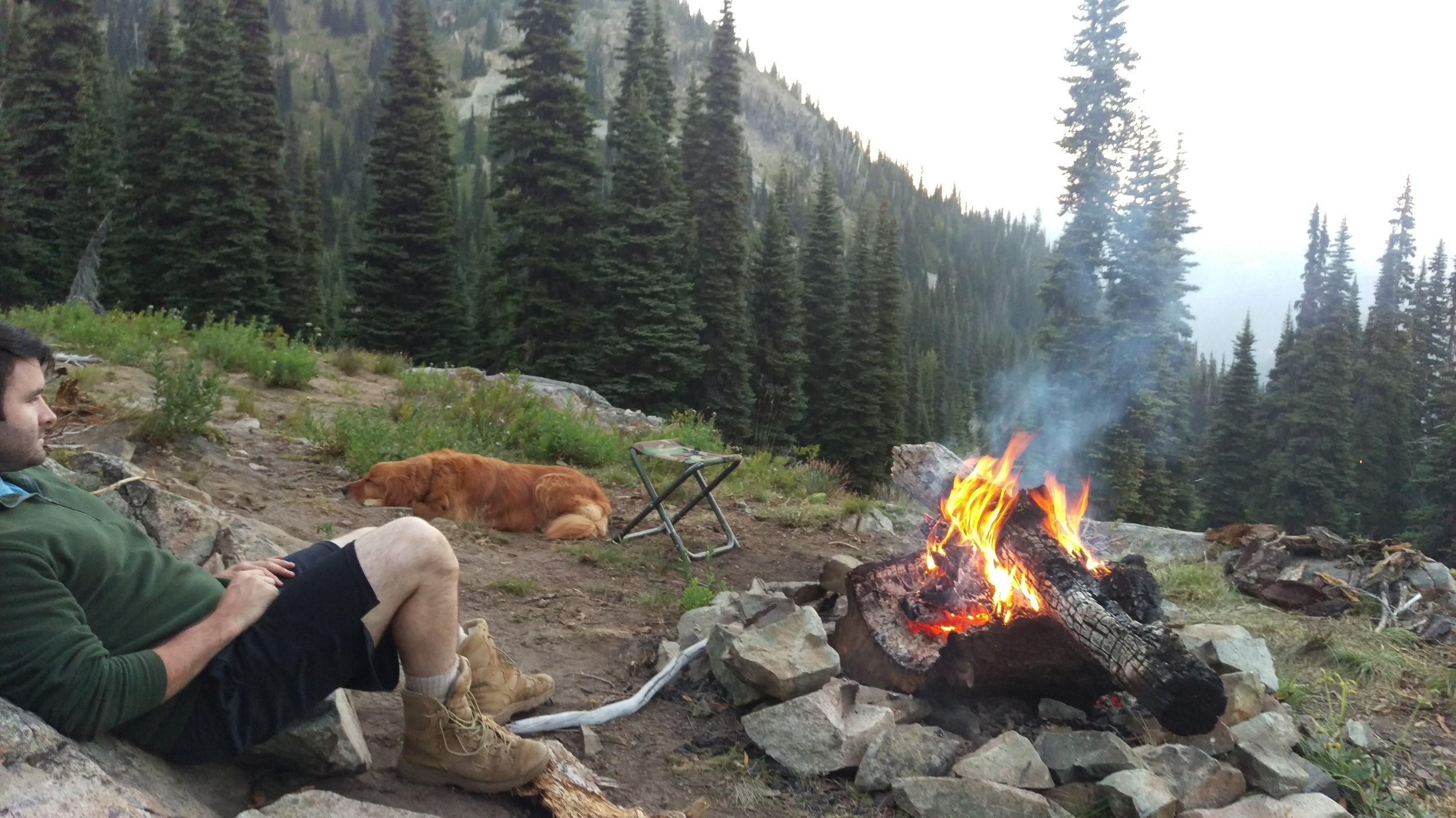 Camping in Rainier National Park