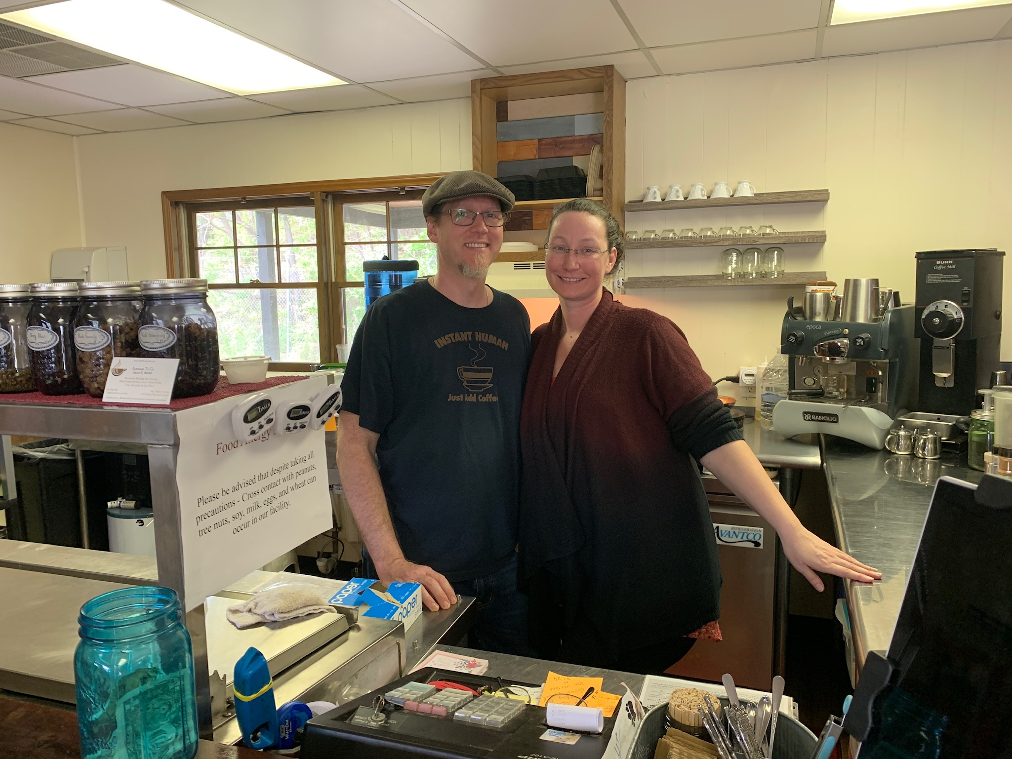 Café owners Jason and Sandy Burke moved to Buena Vista from Indianapolis a few years ago.