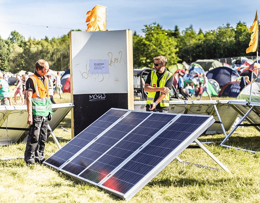 Solar Panel at Body and Soul. Image from www.nativeevents.ie