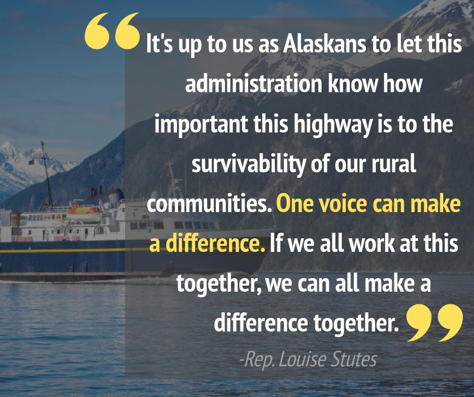 Hundreds of Alaskans testified this year in support of fully funding the Marine Highway System, and their voices had a profound impact.