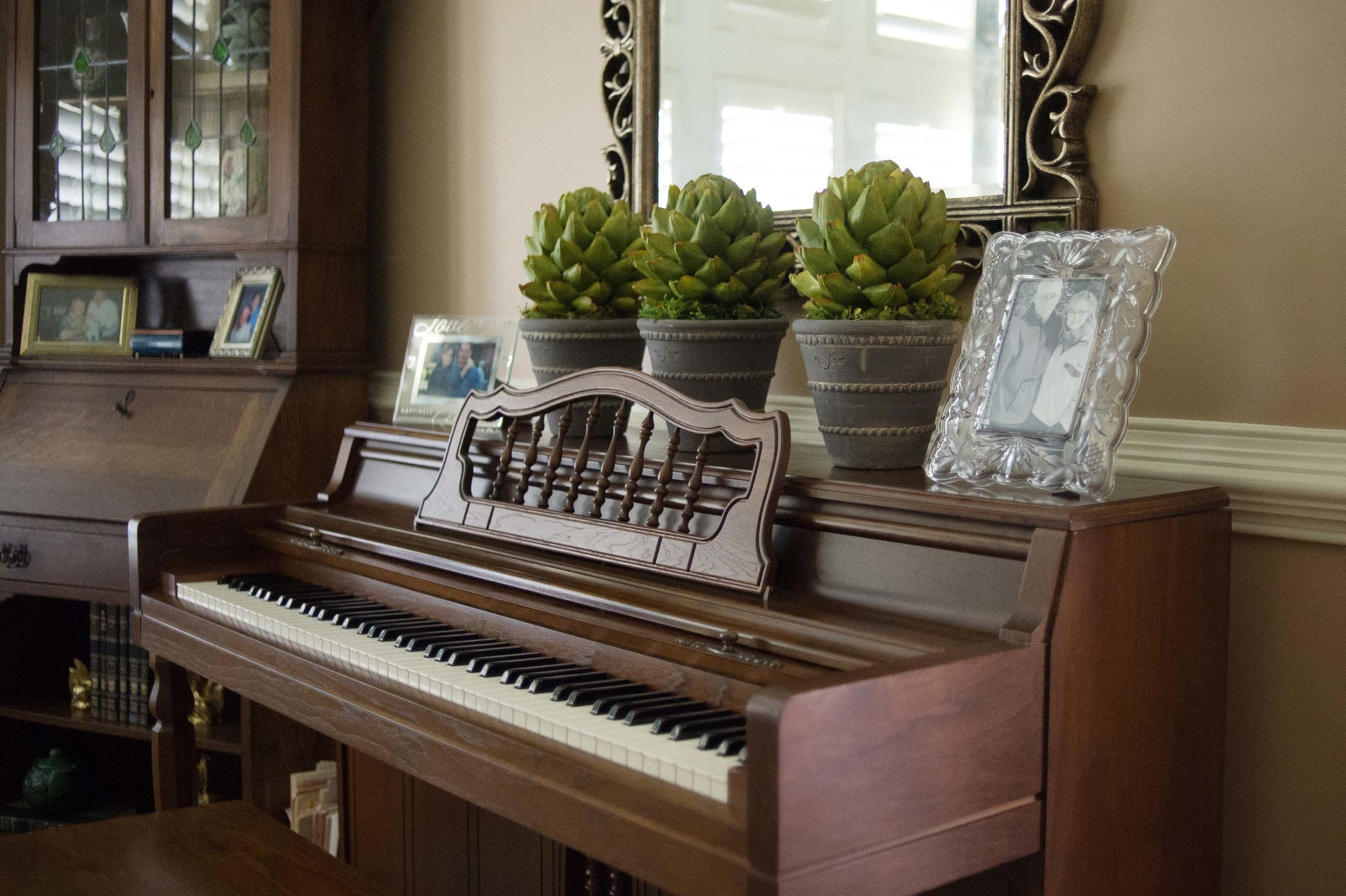 House interior with grand piano