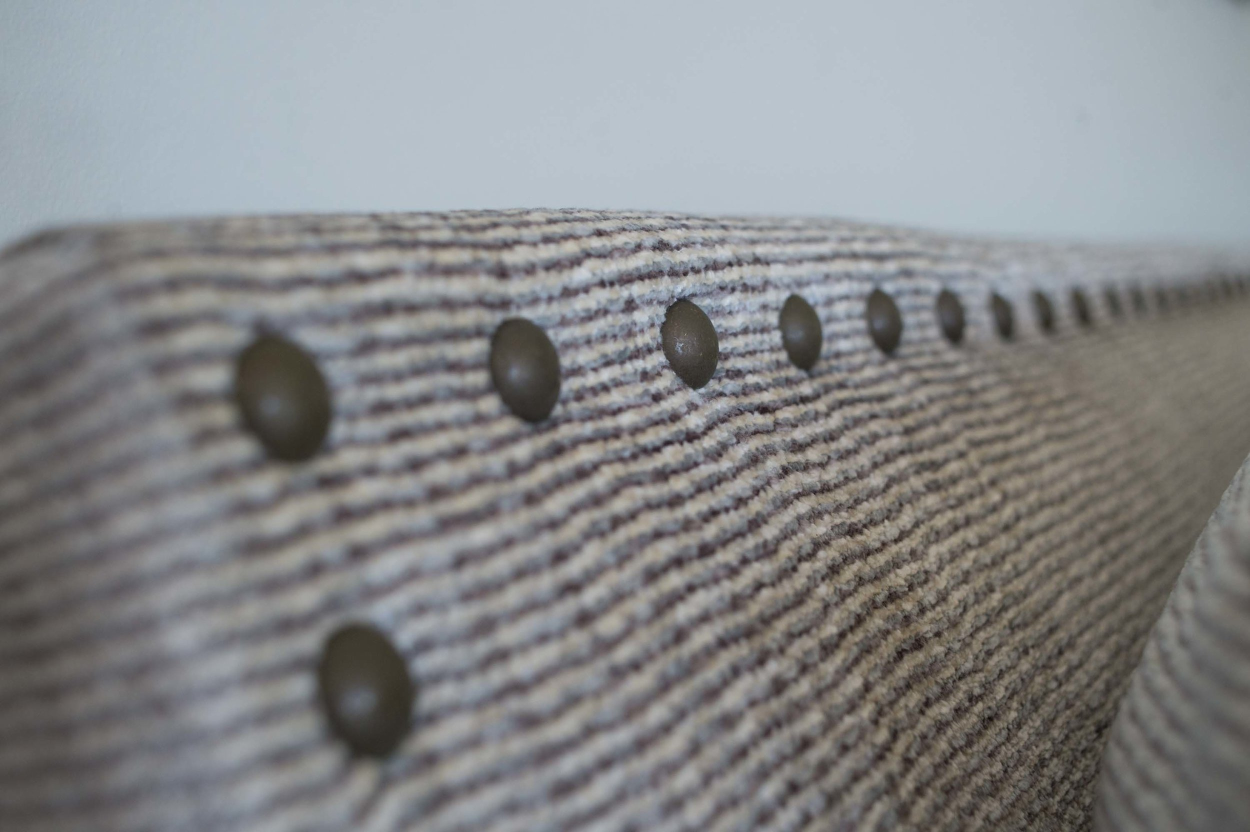 Living room sofa detail with buttons