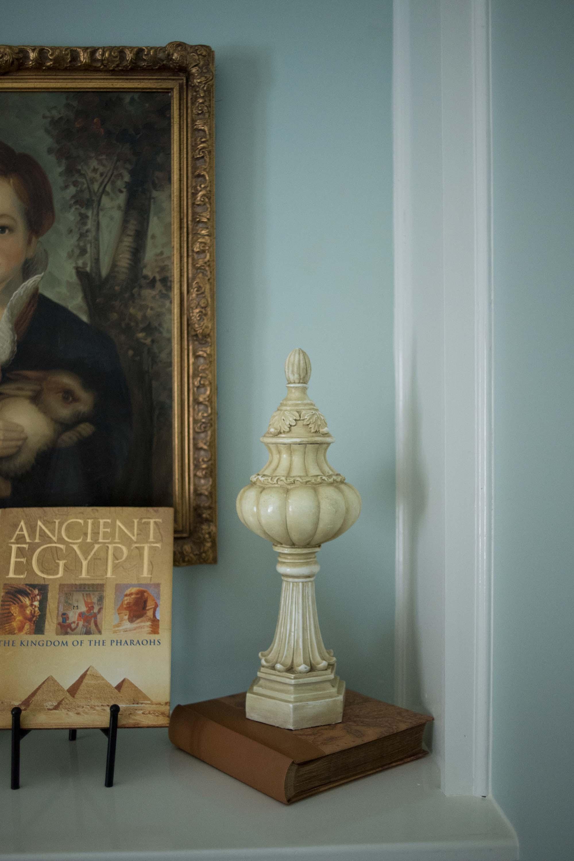 Artwork, Accessories, Blue Wall & Book