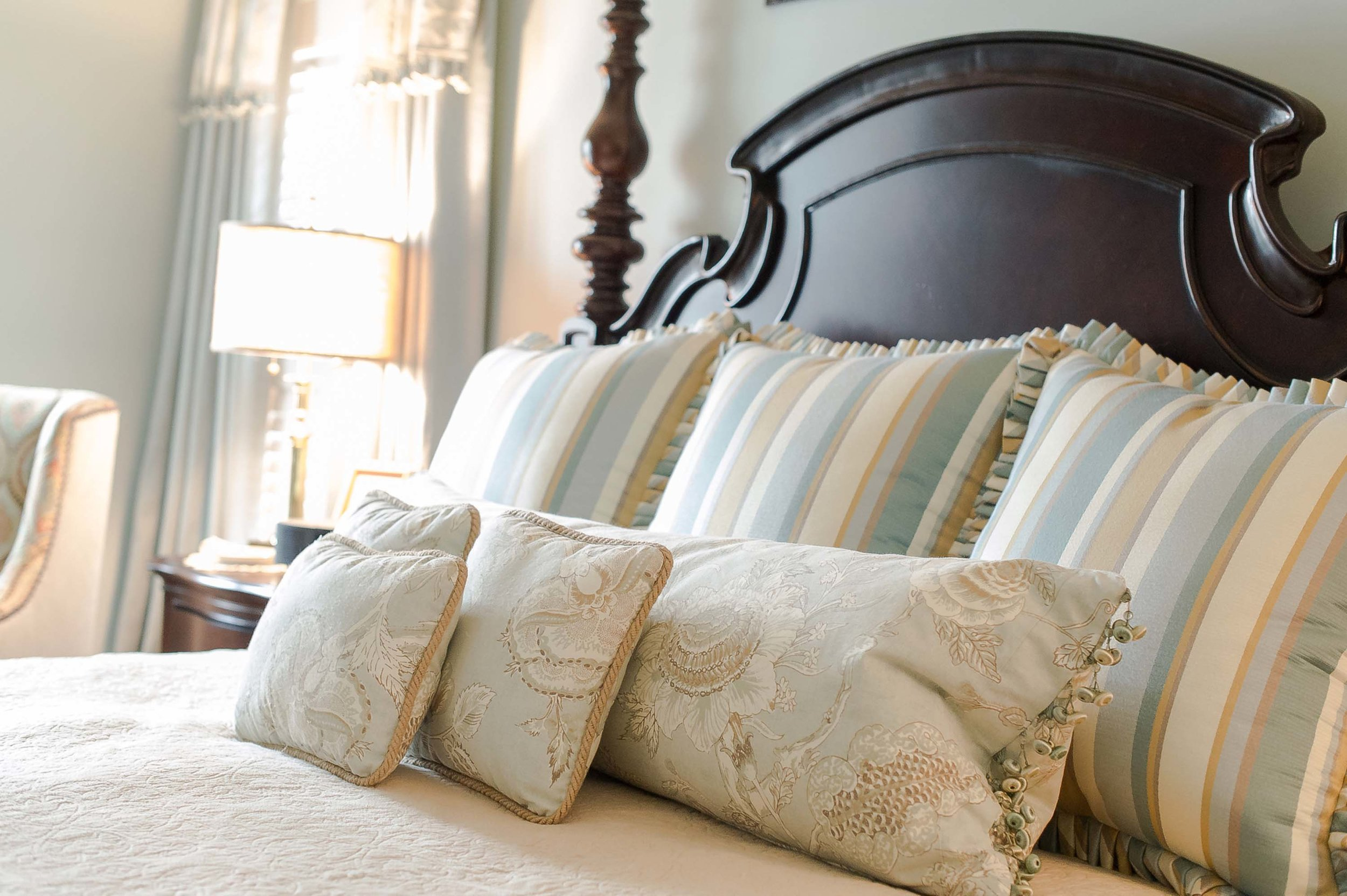 Custom Bedding for Master Bedroom