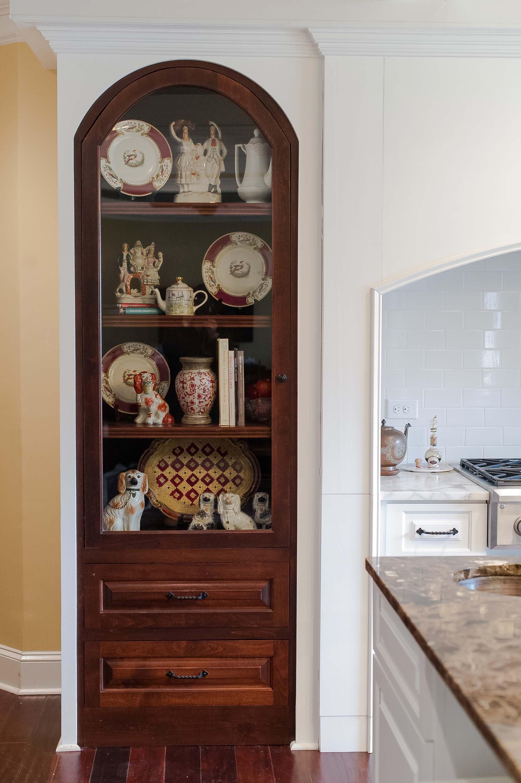 Bookshelf off of Kitchen