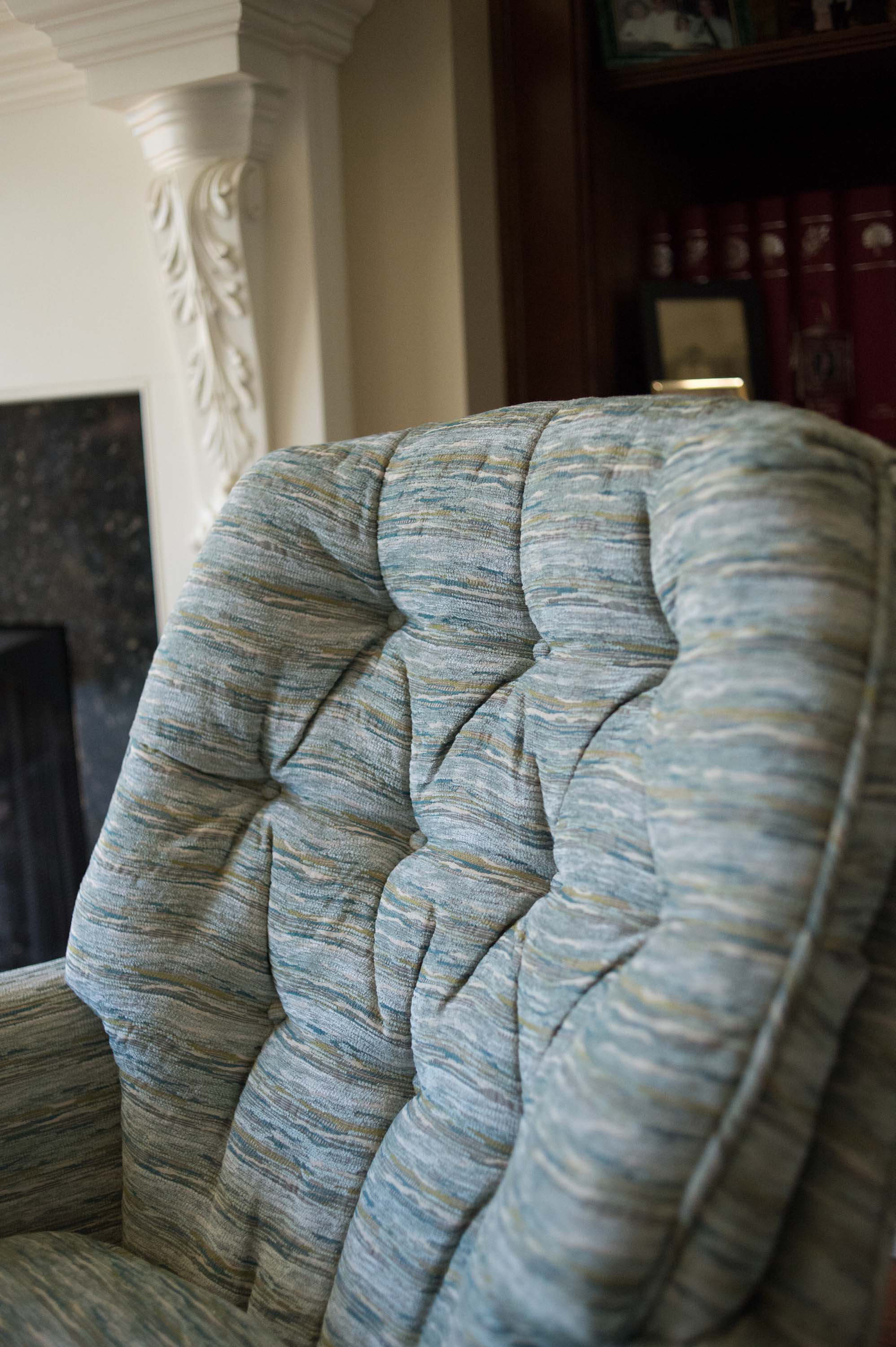 Striped Tufted Chair
