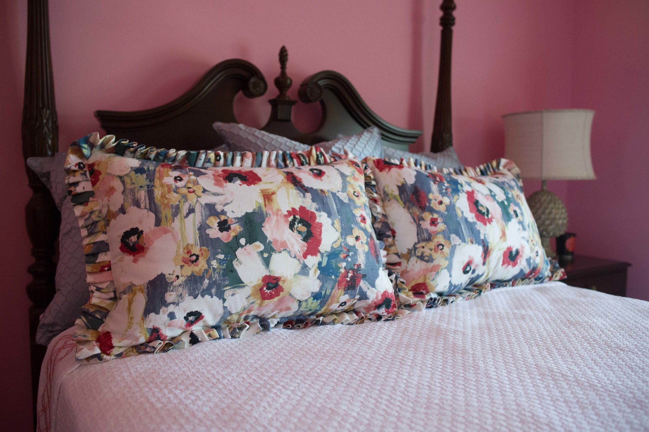 Custom Bedding with coverlet and shams