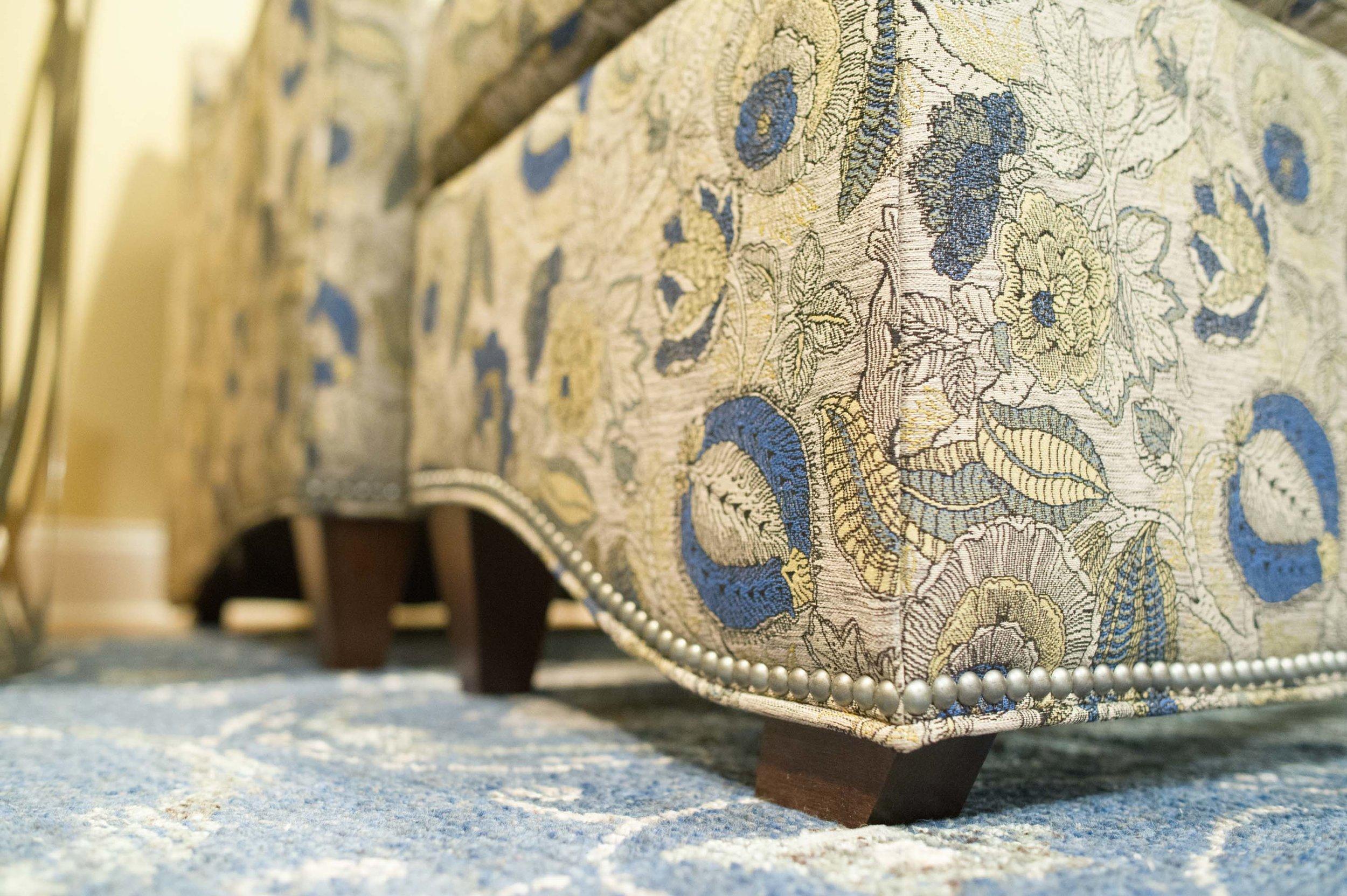 Sherrill Fabric and Jaunty Rug