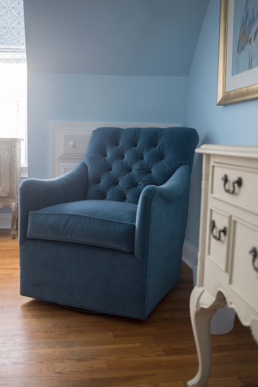 Blue Norwalk Swivel Chair