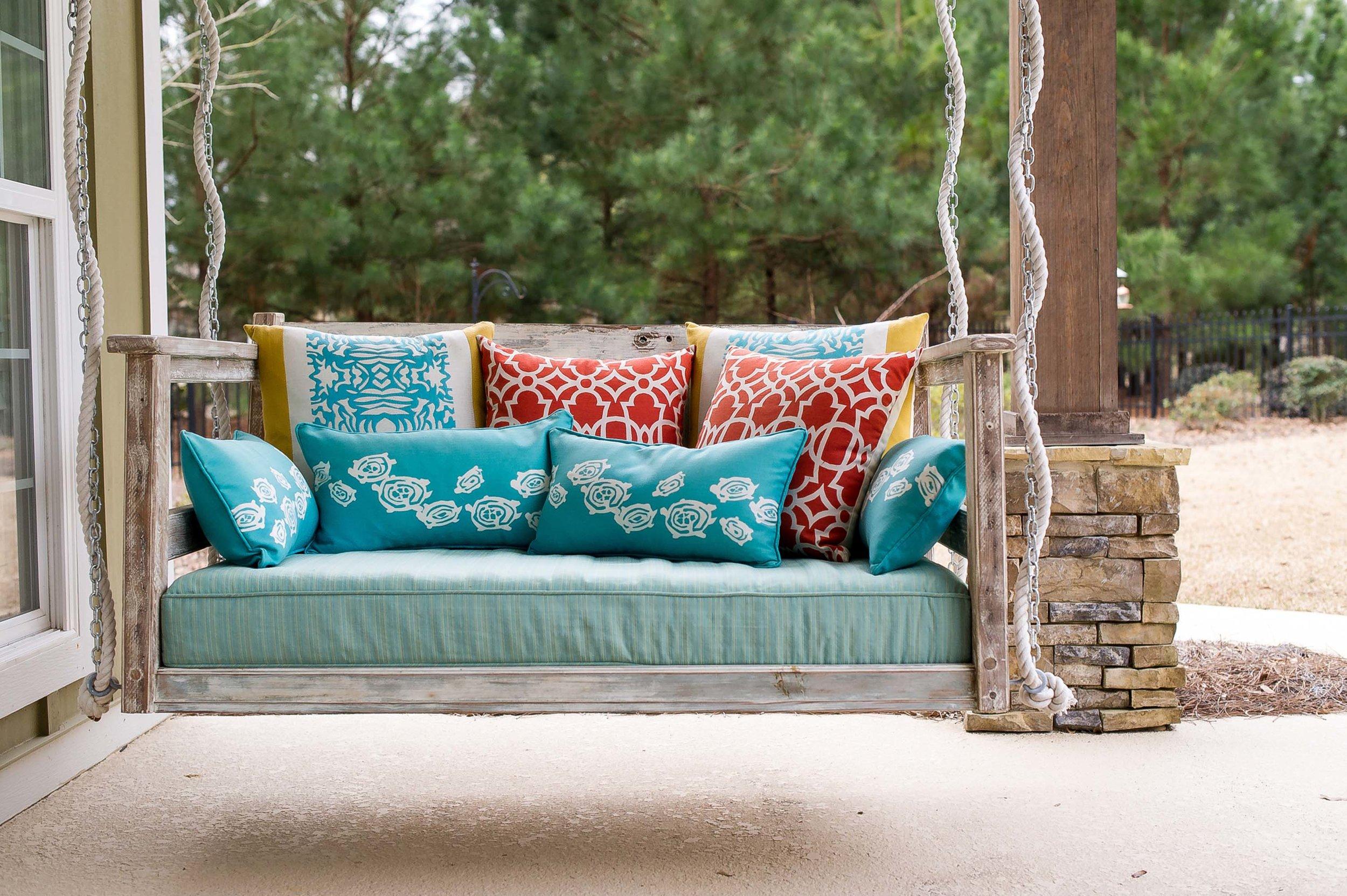 Custom Swing with Elaine Smith Pillows