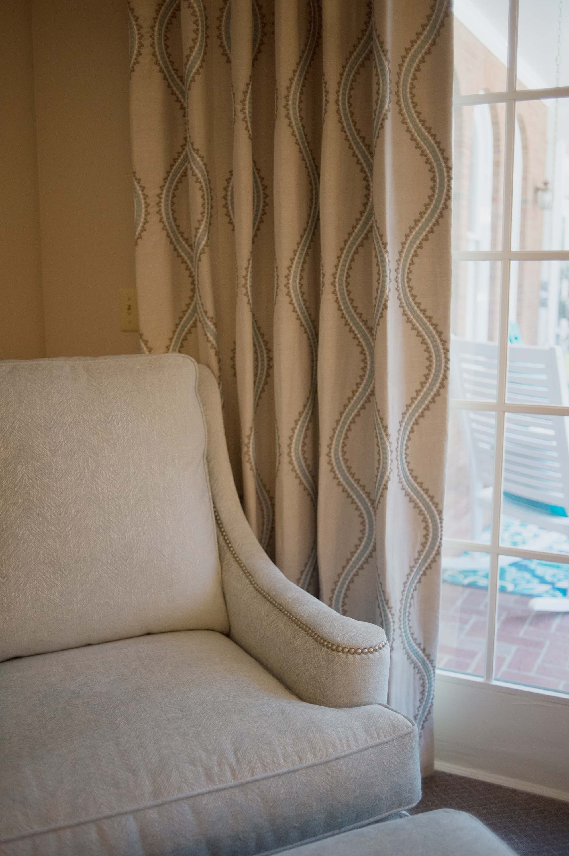 Custom Window Treatments with Sherrill Furniture Chair