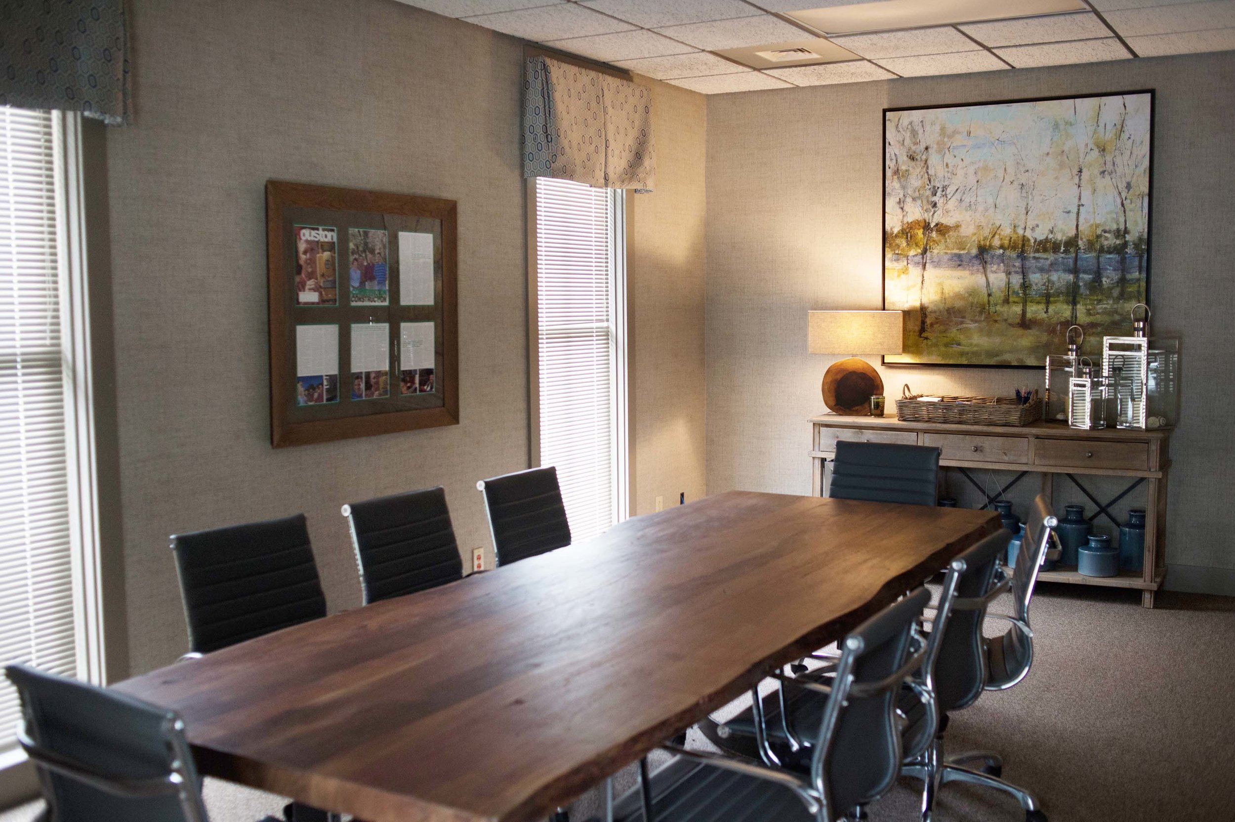 conference table in professional office