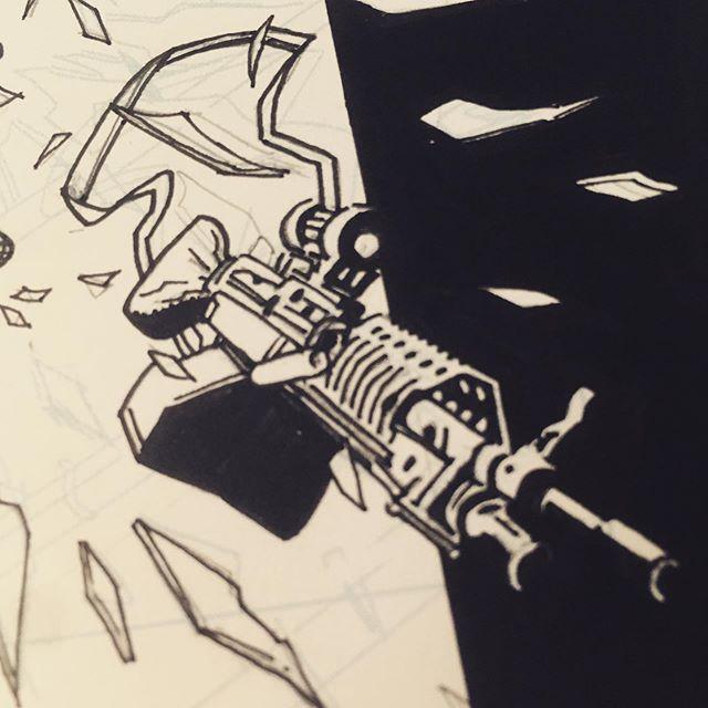 Best thing I've inked today #tristanfuller #comics #comicart #comicartist #art #drawing #wip #raphael8404 #pentelbrushpen #ink #brush #scad #scadseqa #inking #comicbookart #micron #kuretake #pittpen #inktober #inktober2019