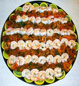 Shrimp and Gravlox Platter