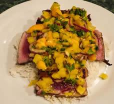 Grilled Tuna+Mango Salad